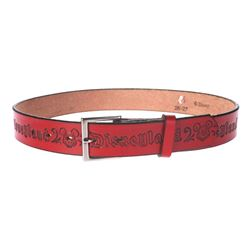 Red Leather Disneyland Belt.