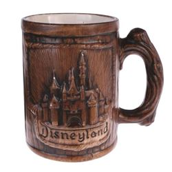 "Ceramic Wood-Look ""Sleeping Beauty Castle"" Mug."
