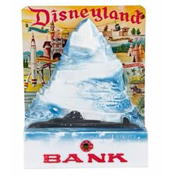 """Matterhorn Bobsleds"" Tin-Litho Bank."