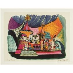 "Signed ""It's a Small World"" Concept Art Lithograph."