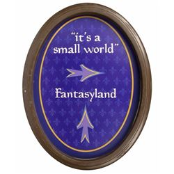 """It's a Small World"" & Fantasyland Directional Sign."