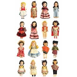 "Collection of (16) ""Small World"" Pen Pal Dolls."