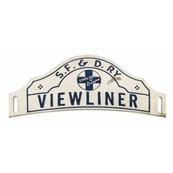 "Disneyland ""Viewliner"" Hat Badge."