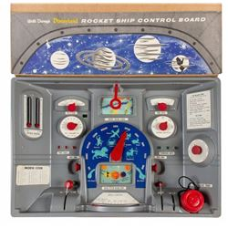 Disneyland Rocket Ship Control Board Toy in Box.