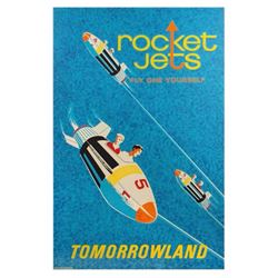 "Original ""Rocket Jets"" Attraction Poster."