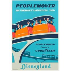 "Original ""PeopleMover"" Attraction Poster."
