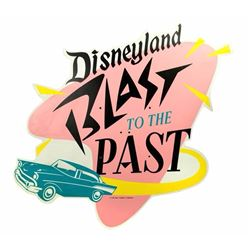 """Blast to the Past"" Disneyland Sign."