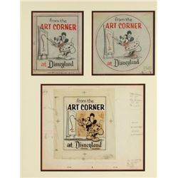 "Set of Disneyland ""Art Corner"" Development Art."