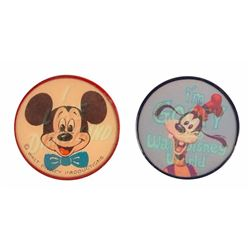 "Pair of Lenticular ""Flicker"" Character Pins."
