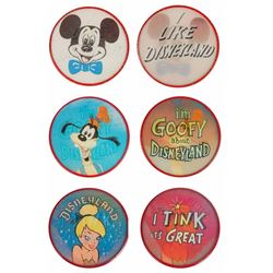 "Set of (3) Lenticular ""Flicker"" Character Pins."