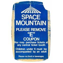 Space Mountain  E-Ticket Sign.