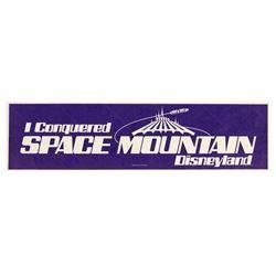 """Space Mountain"" Cast Member Bumper Sticker."