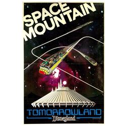 """Space Mountain"" Opening Year Poster."