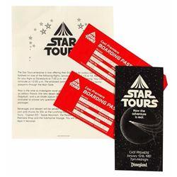 "Cast Member ""Star Tours"" Premiere Tickets."