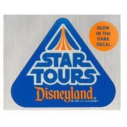 """Star Tours"" Grand Opening Glow in the Dark Decal."