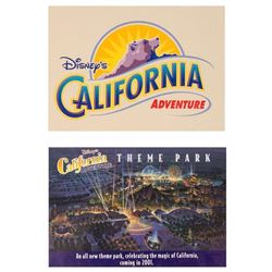 Pair of Pre-Opening California Adventure Postcards.
