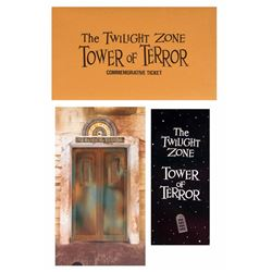 """Tower of Terror"" Opening Year Passports."
