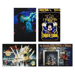 "Set of (3) ""Tower of Terror"" Postcards with Sticker."