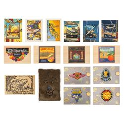 Collection of (16) California Adventure Postcards.