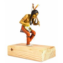 Dancing Indian with Ceremonial Stick Maquette.