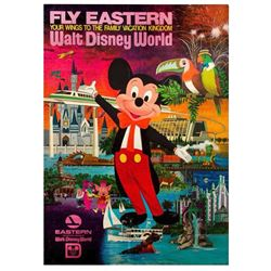 Eastern Airlines Walt Disney World Travel Poster.