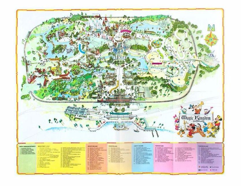 1975 Walt Disney World Map.