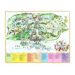 1975 Walt Disney World Map.