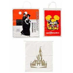 Set of (3) Walt Disney World Shopping Bags.