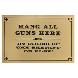"Frontierland ""Hang All Guns Here"" Sign."