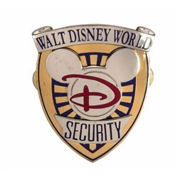 Walt Disney World Security Hat Badge.
