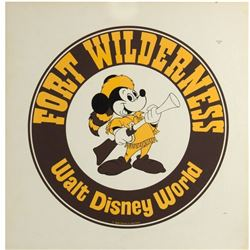 """Fort Wilderness"" Logo Development Artwork."