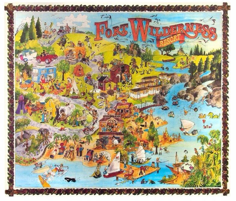 Fort Wilderness Illustrated Map. on