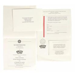 Set of (4) EPCOT Grand Opening Invitations.