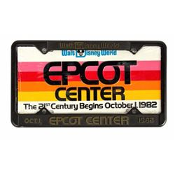 EPCOT Pre-Opening License Plate and Frame.