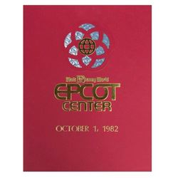 EPCOT Center Opening Day Commemorative Guide.