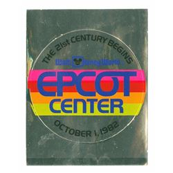 EPCOT Center Grand Opening Sticker.