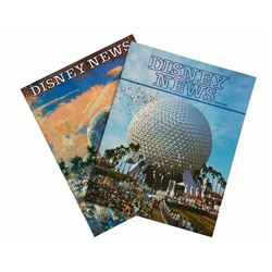 "Pair of ""Disney News"" Magazines Featuring EPCOT."