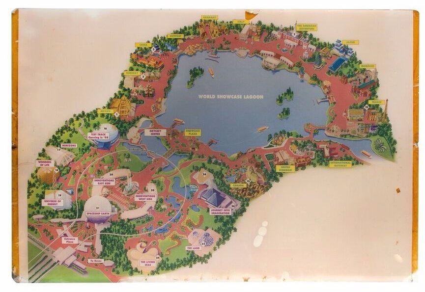EPCOT Location Map.