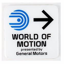 World of Motion  Directional Sign.