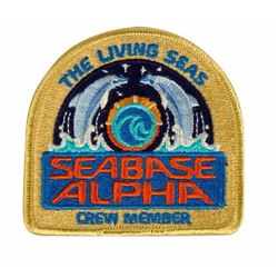 """The Living Seas"" Seabase Alpha Cast Member Patch."