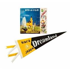 """Dreamland"" Souvenir Pennant and Guidebook."