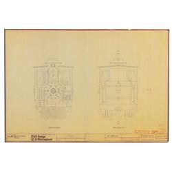 Set of (3) Tokyo Disneyland Railroad Blueprints.
