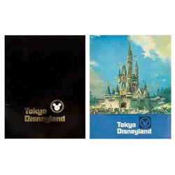 Pair of Pre-Opening Tokyo Disneyland Guides.