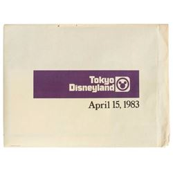 Unopened WED Employee Tokyo Disneyland Gift Packet.
