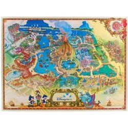Tokyo DisneySea Souvenir Map.