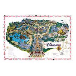 Euro Disneyland Opening Year Souvenir Map.