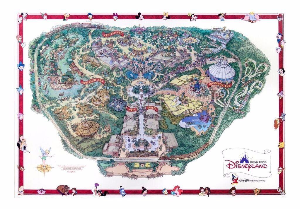 Imagineering Hong Kong Disneyland Map