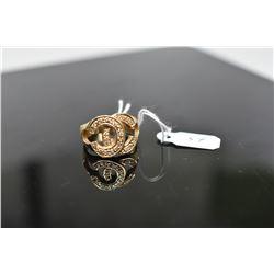 Cartier Design Diamond Ring, 13 Round Brilliant Cut Diamonds Approx .13 ct, 14K Gold, 7.3 grams