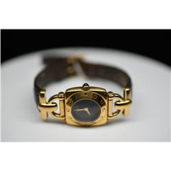 Ladies Gucci Quartz Wristwatch - Yellow Gold-Plated Dial, Operating Condition Unknown, Crystal Worn