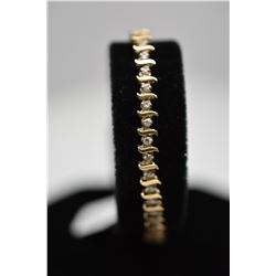 "Diamond Tennis Link Bracelet 7"" Length - 46 Diamonds .46 ct Total Wt, 14K Gold, 6.2 g"